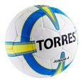 Мяч футб. ''TORRES Junior-4'' арт.F30234, р.4, вес 310-330 г,глянц.ПУ, 3 сл, 32 п, руч.сш, бел-жел-г