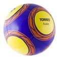 Мяч футб. ''TORRES Flash'' арт.F30315, р.5, 14 пан. TPU, 1 подкл. слой, маш. сшив., фиолет-желт-оран