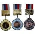 Медаль с лентой ''Россия''  1 место  (большая) Диаметр 5,3 см, длина ленты 47 см.