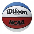 Мяч баск. ''WILSON NCAA Retro'' арт.X5315, р.7, резина, бутил. камера, крас-бел-син