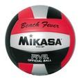 Мяч вол. пляжн. ''MIKASA VXS-BF Beach Fever'' синт.кожа, маш. сш., р. 5,  красн.-черн.-серебр.