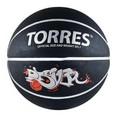 Мяч баск. ''TORRES Prayer'' арт.B00057, р.7, резина, нейлон.корд, бут. кам., черно-серебр-крас